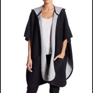 Eileen Fisher Hooded Poncho Wool Cashmere Blend